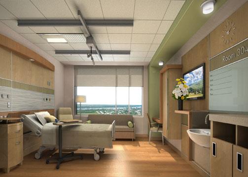 Indu and Raj Soin Medical Center Room Design by Jain Malkin Inc
