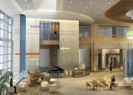Indu And Raj Soin Hospital Lobby Design By Jain Malkin Inc