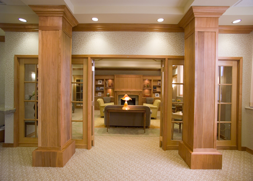 Jain Malkin Inc - Interior Design Portfolio - Medical Education and Physician Amenities - Doctors Lounge Library Design