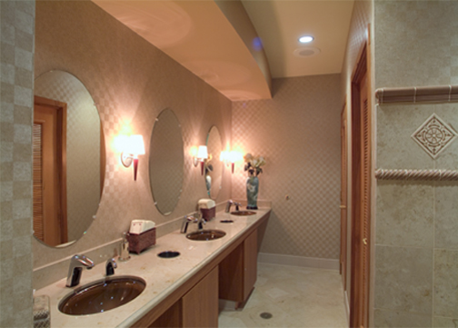 Jain Malkin Inc - Interior Design Portfolio - Medical Education and Physician Amenities - Doctors Lounge Restroom Design
